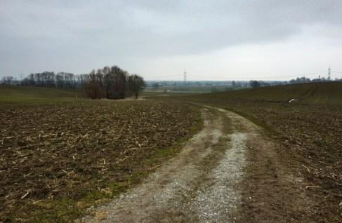 Hinter Mering erpöffnet sich das weite Lechfeld