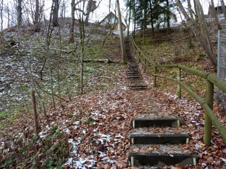 Steiler Treppensteig