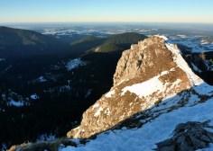 Blick vom Teufelstättkopf ins Alpenvorland