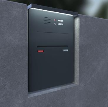 Insertion dans un mur