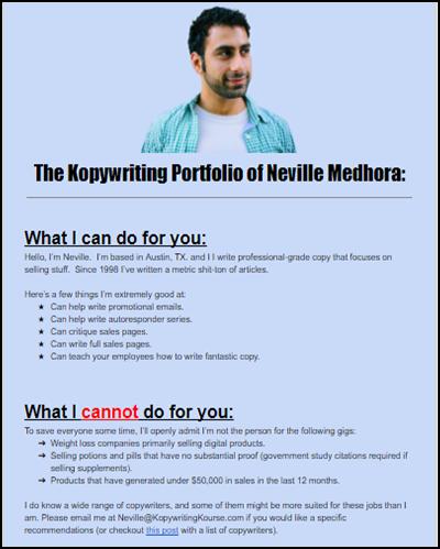 Copywriting Portfolio Make A Full Portfolio In 10 Minutes