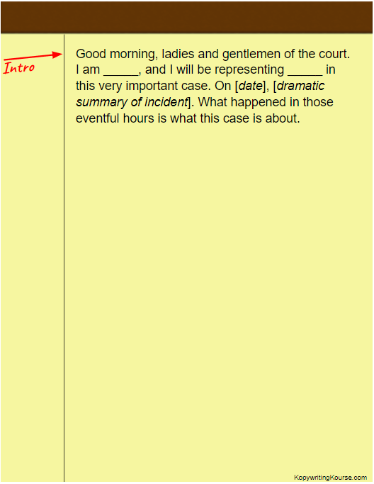 How To Write An Opening Statement Kopywriting Kourse