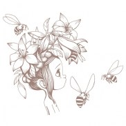 sticker-fille-brun-acte-deco-p-image-38017-grande