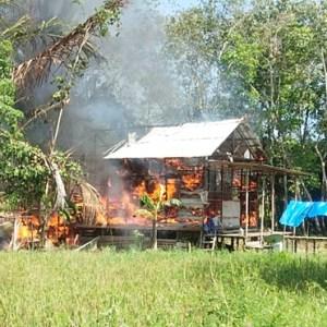 Kebakaran di Tabalong, Rumah Penyandang Tuna Rungu (Tuli) Ludes