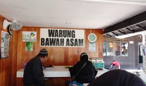 Makanan khas Banjar, Warung Bawah Asam di Kecamatan Cempaka, Kota Banjarbaru, Kalimantan Selatan. (foto: koranbanjar.net)