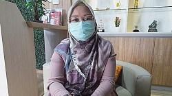 Manager Logistik dan GS PT Telkom Cabang Kalimantan Selatan, Rasmayana Razak.(foto:leon)
