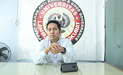Akademisi Fakultas Hukum Unlam, Fikri Hadin SH. LLM.(foto: ist)