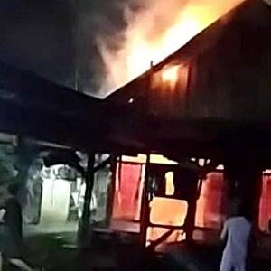 Api Berkobar di Kelurahan Barabai Utara Hanguskan 1 Rumah