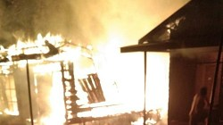 Kebakaran di Barabai Darat, Kabupaten HST