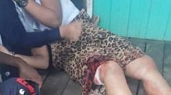 Korban saat mengalami penganiayaan. (foto: yanda)
