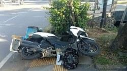 Sepeda motor pedagang bubur. (foto: sosmed)
