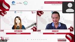Webinar Literasi Digital Kota Banjarbaru.