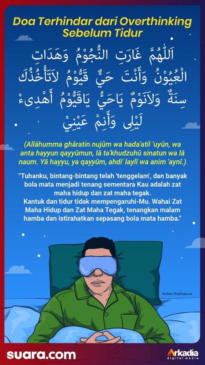 Doa Terhindar dari Overthinking Sebelum Tidur. (Suara.com/Ema Rohima)