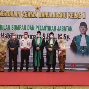 Habiburrahman Resmi Dilantik Jadi Wakil Ketua Pengadilan Agama Banjarbaru