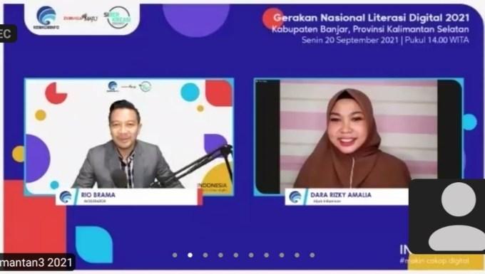 Webinar Literasi Digital Kabupaten Banjar..