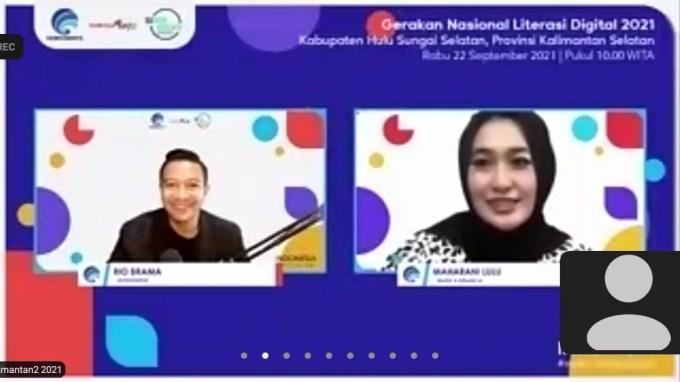Webinar Literasi Digital Hulu Sungai Selatan.