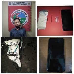 Narkoba Kalsel; Pengedar Sabu Kelas Teri Diringkus Polisi Banjarbaru