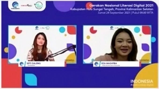 Webinar Literasi Digital Hulu Sungai Tengah.