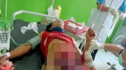 KORBAN – Yudhy Sunadhy (35) dilarikan ke rumah sakit setelah diserang dengan senjata tombak di Kasongan, Kalteng. (foto: borneo24/koranbanjar.net)