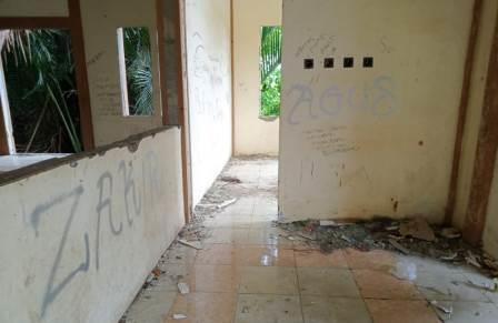 Ruang gedung pemuda Kabupaten HST. (foto: ramli)