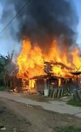 Kebakaran di Kabupaten HST.