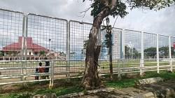 Lapangan olah raga di Kota Barabai, Kabupaten HST. (foto: ramli)
