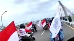 Motor Gede melintas di Jembatan Alalak Baru. (foto: tangkapan layar)