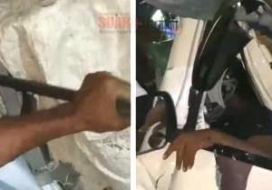 Pikap Tabrak Truk Kontainer Parkir di Kalbar, Sopir Tewas Terjepit, Dikeluarkan Dengan Linggis