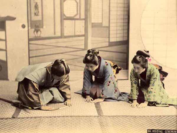 Kusakabe Kimbei -Ceremonia de visita