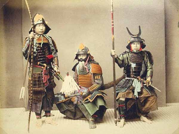 Kusakabe Kimbei - Samurais