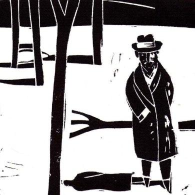 Retrato de Baroja con abrigo - Jesus Marchamalo