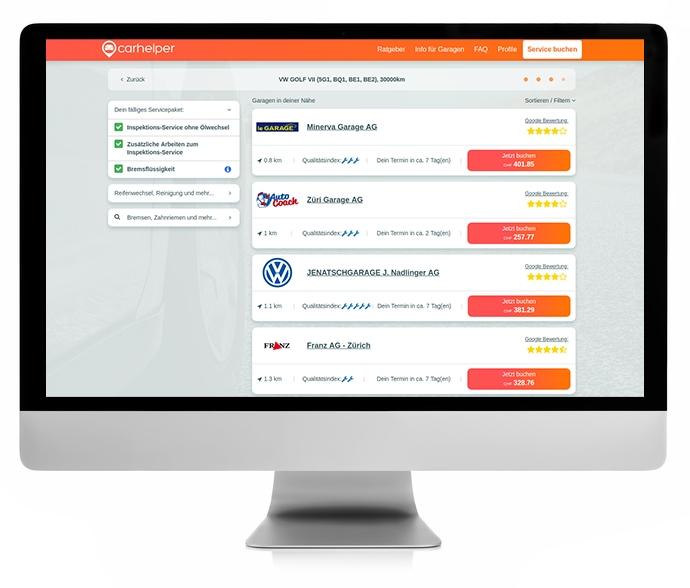 Carhelper.ch: Transparente Preise für Autoservice & Reparaturen