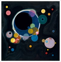 Simple / Melodic Composition by Wassily Kandinsky: http://web.guggenheim.org/exhibitions/kandinsky/images/several_circles.jpg