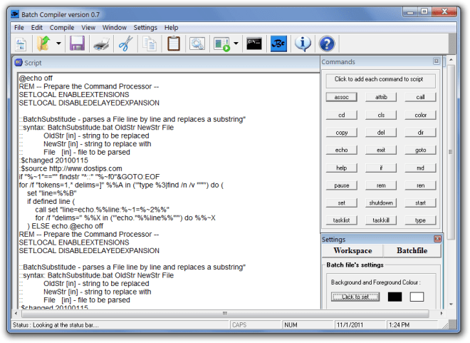 Batch Compiler version 0.7