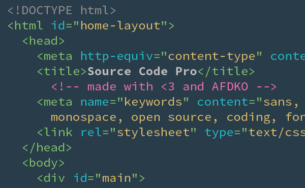 Source Code Pro title image