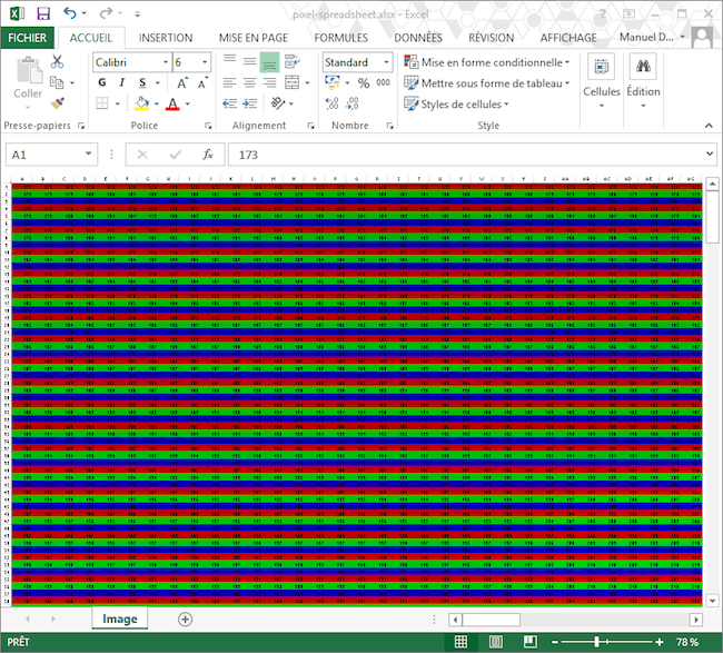pixel-spreadsheet