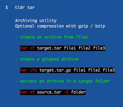 tldr screenshot
