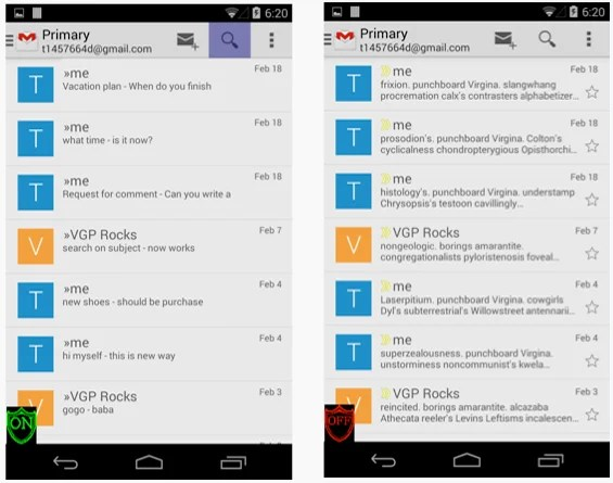 gmail Une application Android pour un chiffrement en totale transparence