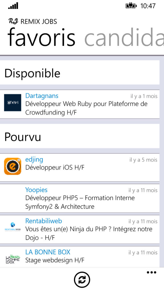 720p 03 favoris 576x1024 Remixjobs débarque sur Android et Windows Phone 8