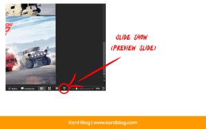 Slide Show button