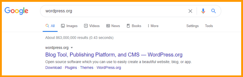 WordPress CMS dominates the search
