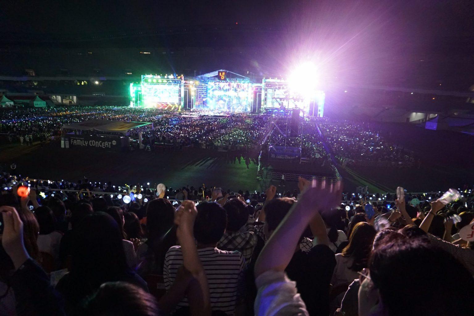 attending concerts in korea