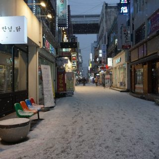 snowy first day of 2021 in korea