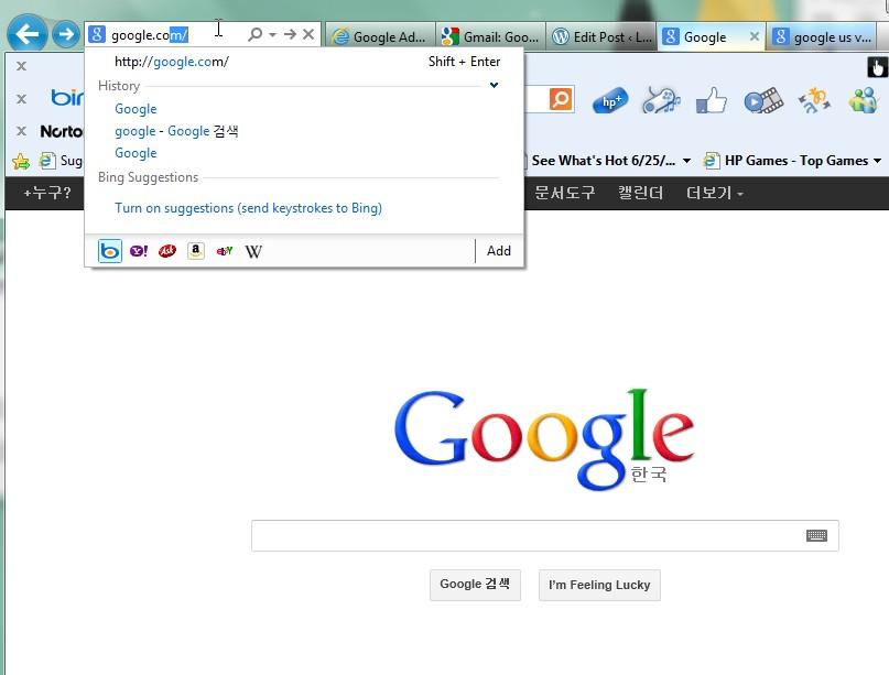 Switching to Google's (USA) English Version in Korea (2/6)