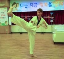 Hiiiiii-YA! ... I may have accidentally kicked the instructors hand when we were practicing high kicks...werps.