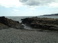 Walking the rocky beach about 15 minutes from Ulsan.