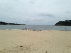 Ilsan beach, probably the most accessible sandy beach in Ulsan.