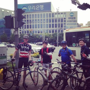 The friends I made while riding back from Jinha Beach. The guy in blue actually studied English at Western Michigan University for a year! He knew where Ann Arbor was!