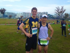 Jang and me before the race!